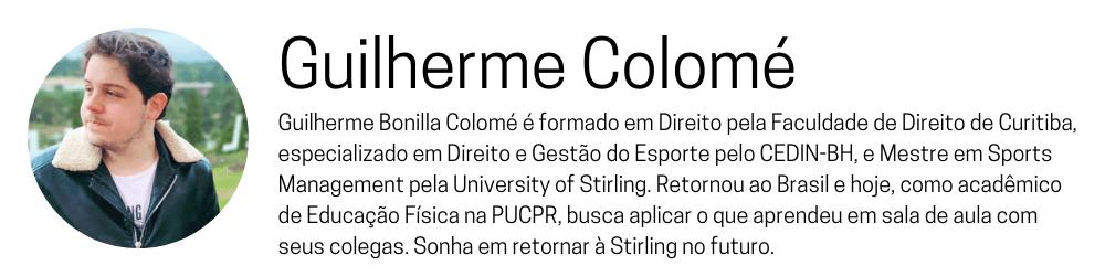 perfil guilherme colomé university sterling